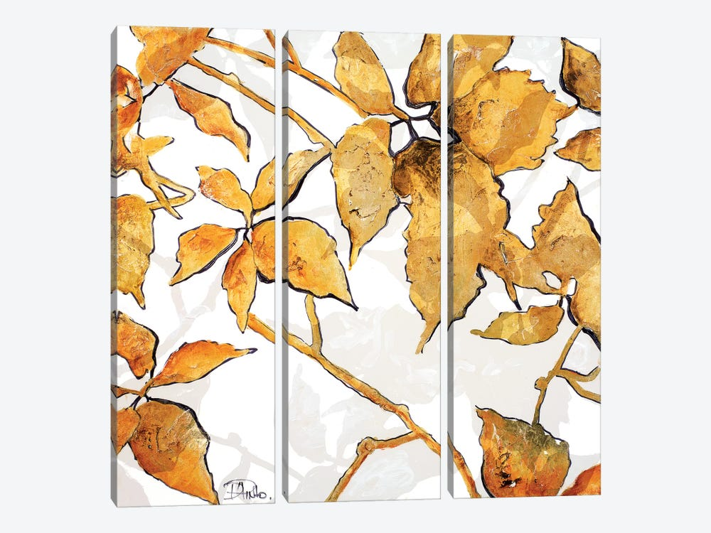 Gold Shadows I by Patricia Pinto 3-piece Canvas Art