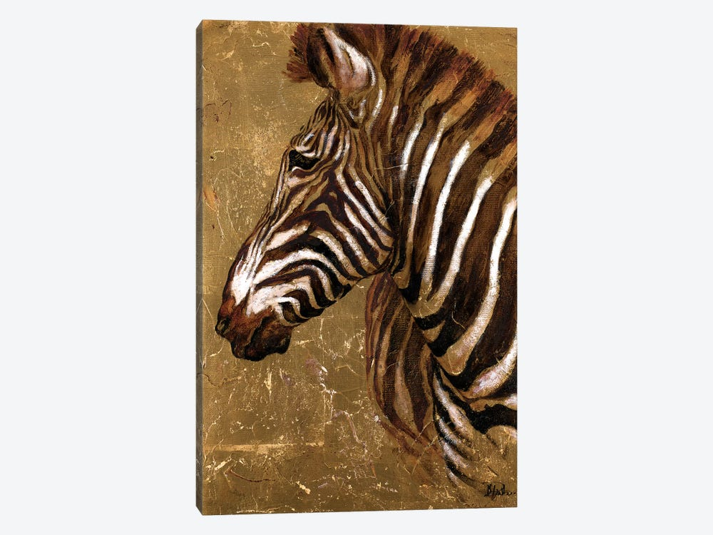 Gold Zebra by Patricia Pinto 1-piece Canvas Art