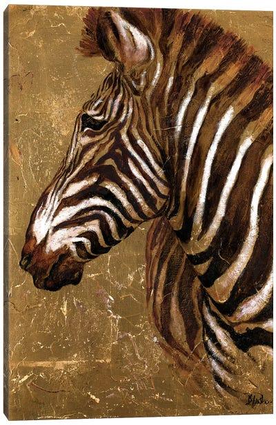 Gold Zebra Canvas Art Print