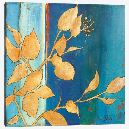 Golden Blue I Canvas Print #PPI156} by Patricia Pinto Art Print