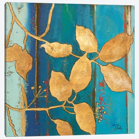 Golden Blue II Canvas Print #PPI157} by Patricia Pinto Canvas Art Print