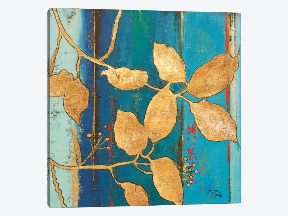 Golden Blue II by Patricia Pinto 1-piece Canvas Wall Art