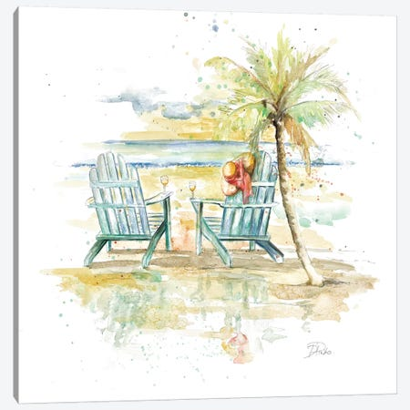 Happy Place I Canvas Print #PPI167} by Patricia Pinto Canvas Art