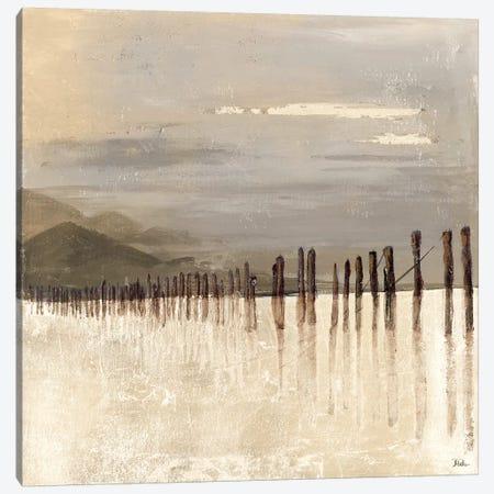 Hidden Pier (light gray) Canvas Print #PPI169} by Patricia Pinto Canvas Art Print