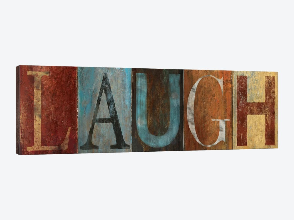 LAUGH 1-piece Canvas Artwork