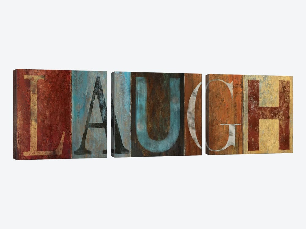 LAUGH 3-piece Canvas Wall Art