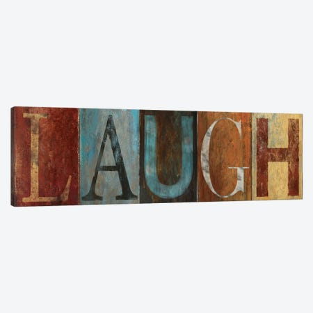 LAUGH Canvas Print #PPI179} by Patricia Pinto Canvas Wall Art