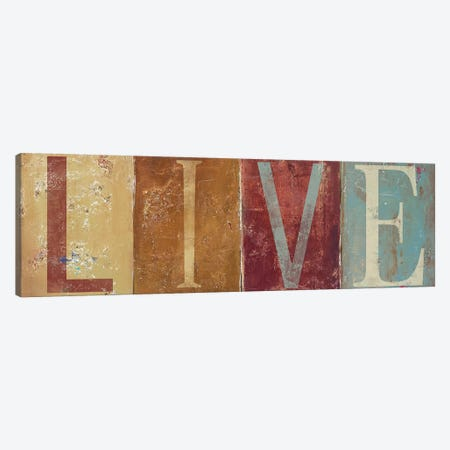 LIVE 3-Piece Canvas #PPI182} by Patricia Pinto Canvas Art Print