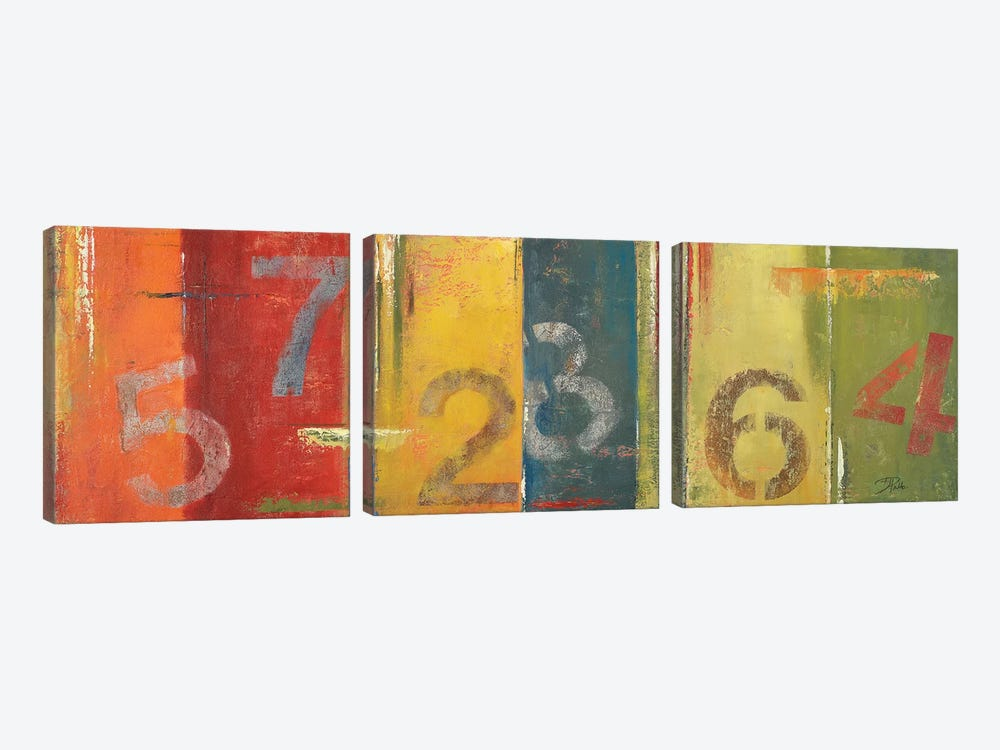 Lucky Numbers I by Patricia Pinto 3-piece Canvas Wall Art