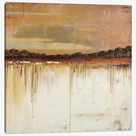 Melting Gold 3-Piece Canvas #PPI195} by Patricia Pinto Canvas Print