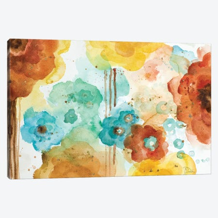 Mis Flores II Canvas Print #PPI198} by Patricia Pinto Canvas Art