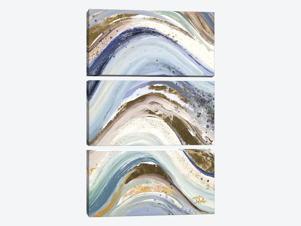New Concept Blue by Patricia Pinto 3-piece Canvas Art