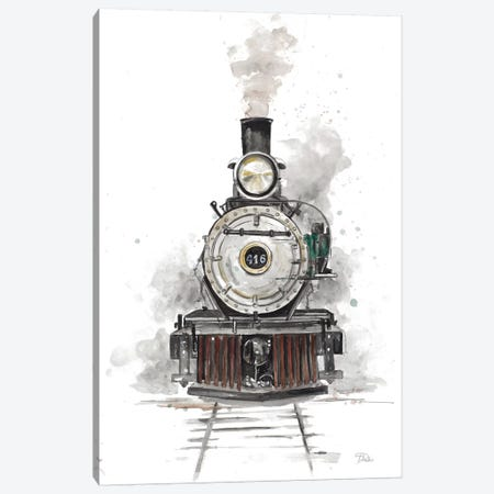 Antique Locomotive Canvas Print #PPI20} by Patricia Pinto Canvas Print