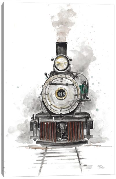 Antique Locomotive Canvas Art Print