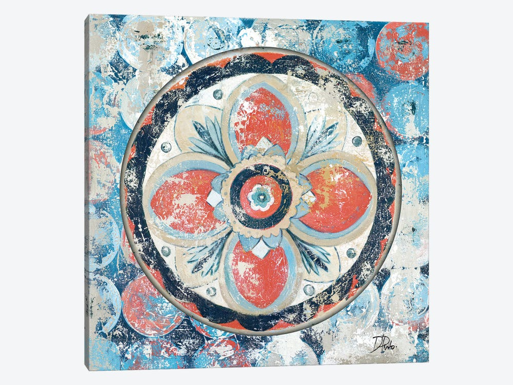 Old Portugese Hue on Circles 1-piece Canvas Wall Art