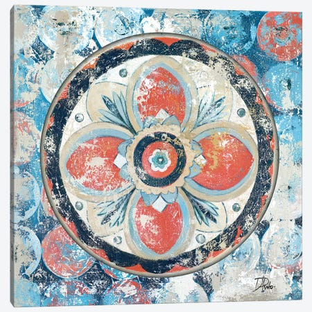 Old Portugese Hue on Circles Canvas Print #PPI215} by Patricia Pinto Canvas Wall Art