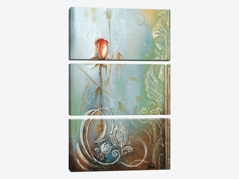 Ornaments & Roses II by Patricia Pinto 3-piece Canvas Artwork