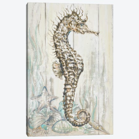 Antique Seahorse I Canvas Print #PPI21} by Patricia Pinto Canvas Art Print