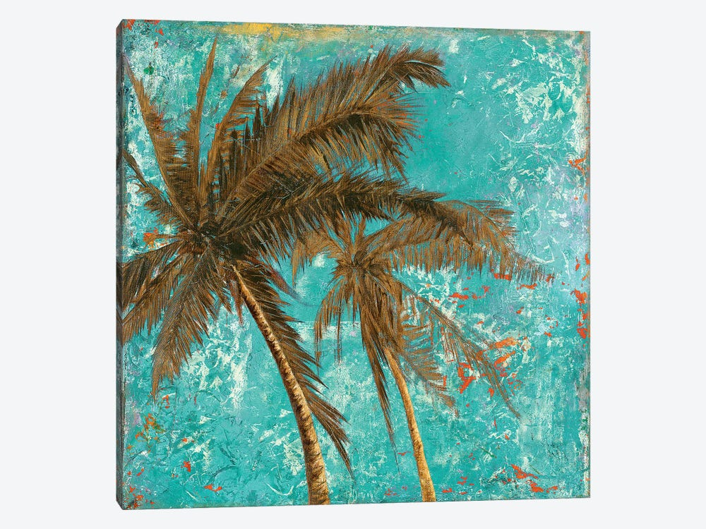 Palm on Turquoise II by Patricia Pinto 1-piece Art Print
