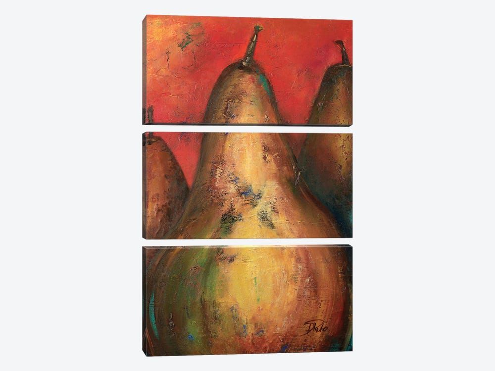 Pear I by Patricia Pinto 3-piece Canvas Print