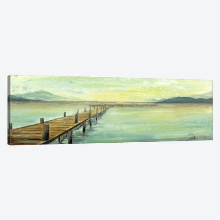 Placid Lake Canvas Print #PPI234} by Patricia Pinto Canvas Wall Art