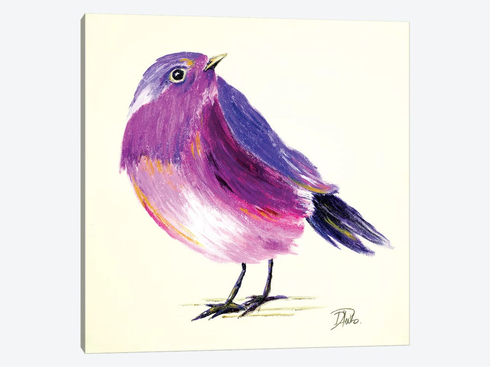 Purple Bird I 1-piece Canvas Wall Art