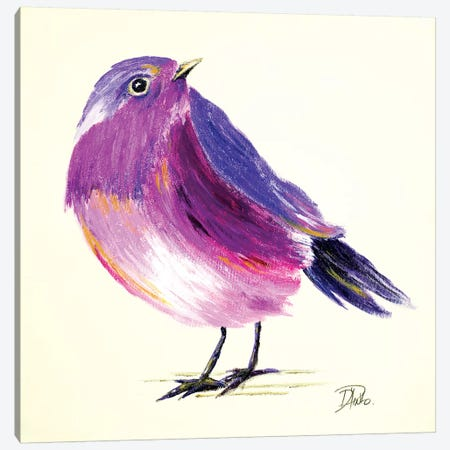 Purple Bird I Canvas Print #PPI242} by Patricia Pinto Canvas Artwork