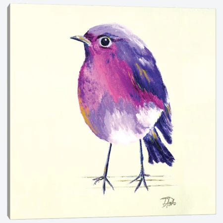 Purple Bird II Canvas Print #PPI243} by Patricia Pinto Canvas Artwork