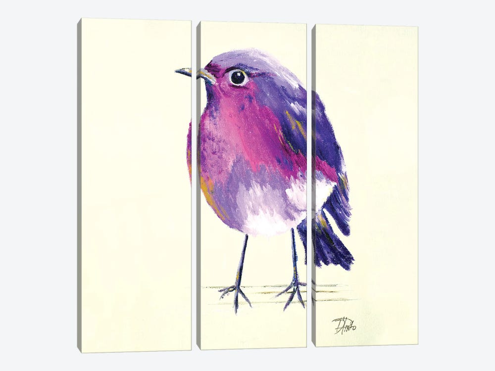 Purple Bird II by Patricia Pinto 3-piece Canvas Art Print