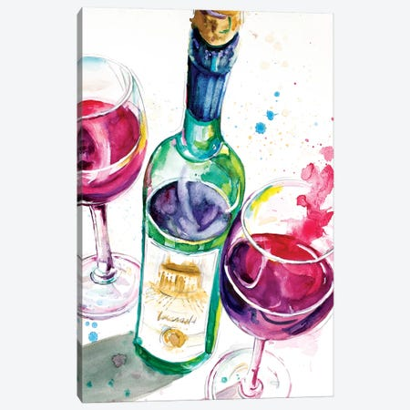 Red and White Wine I Canvas Print #PPI251} by Patricia Pinto Canvas Art Print
