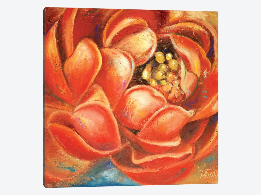 Red Lotus I by Patricia Pinto 1-piece Canvas Artwork