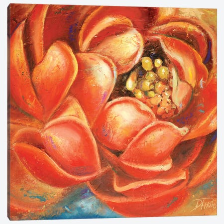 Red Lotus I Canvas Print #PPI253} by Patricia Pinto Art Print