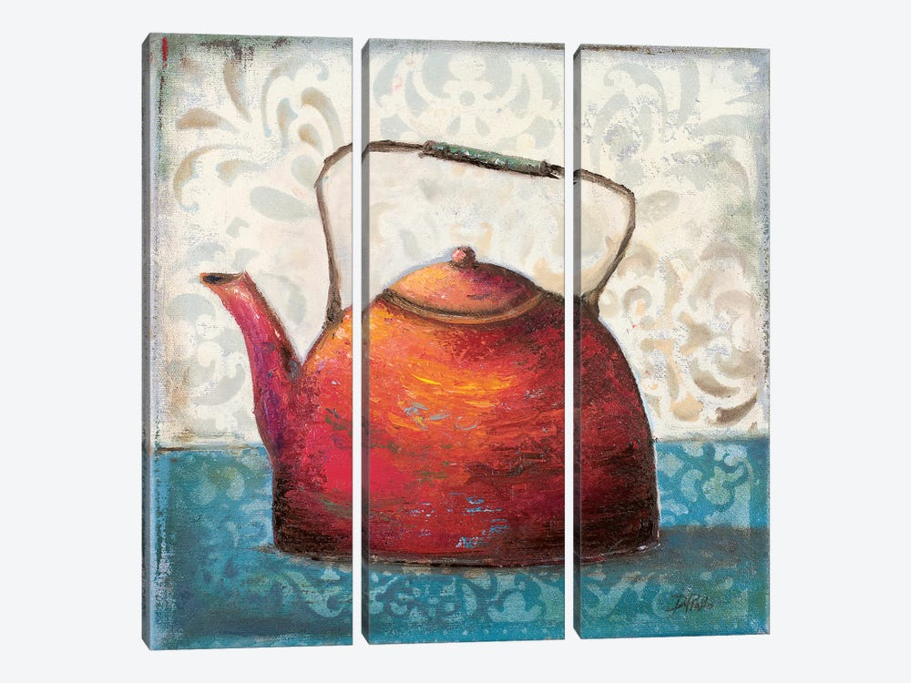 Red Pots I 3-piece Canvas Artwork