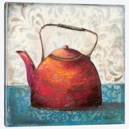 Red Pots I Canvas Print #PPI255} by Patricia Pinto Canvas Art