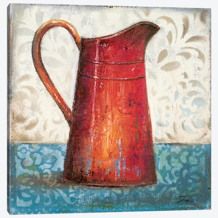 Red Pots II Canvas Print #PPI256} by Patricia Pinto Canvas Artwork