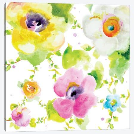 Rosy Vines I Canvas Print #PPI259} by Patricia Pinto Art Print