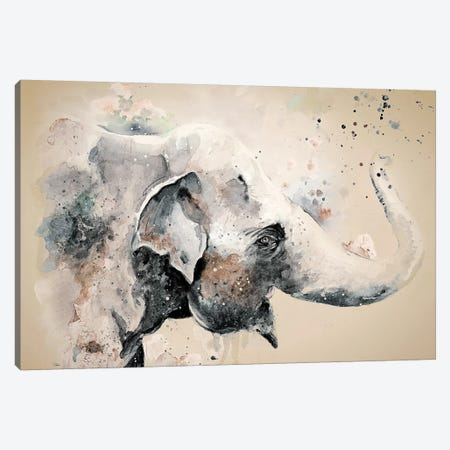 Sandstone Elephant Canvas Print #PPI263} by Patricia Pinto Canvas Wall Art