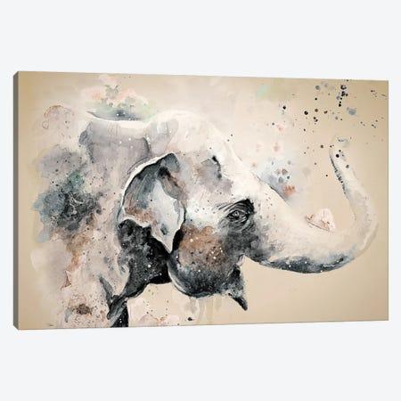 Sandstone Elephant Canvas Print #PPI263} by Patricia Pinto Canvas Wall Art