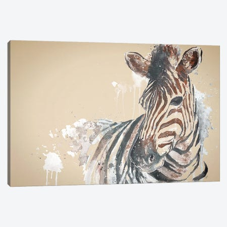 Sandstone Zebra Canvas Print #PPI264} by Patricia Pinto Canvas Art Print