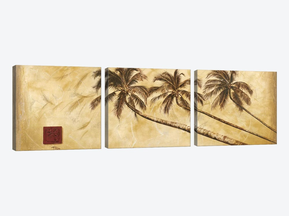 Sepia Palms by Patricia Pinto 3-piece Canvas Art