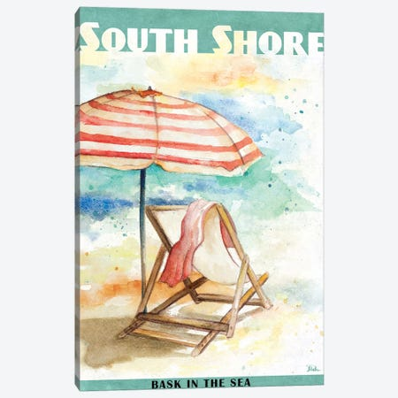 Shore Poster I Canvas Print #PPI271} by Patricia Pinto Canvas Print