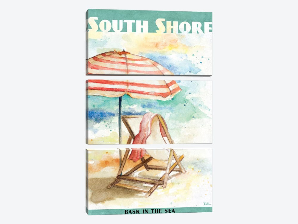 Shore Poster I by Patricia Pinto 3-piece Canvas Wall Art