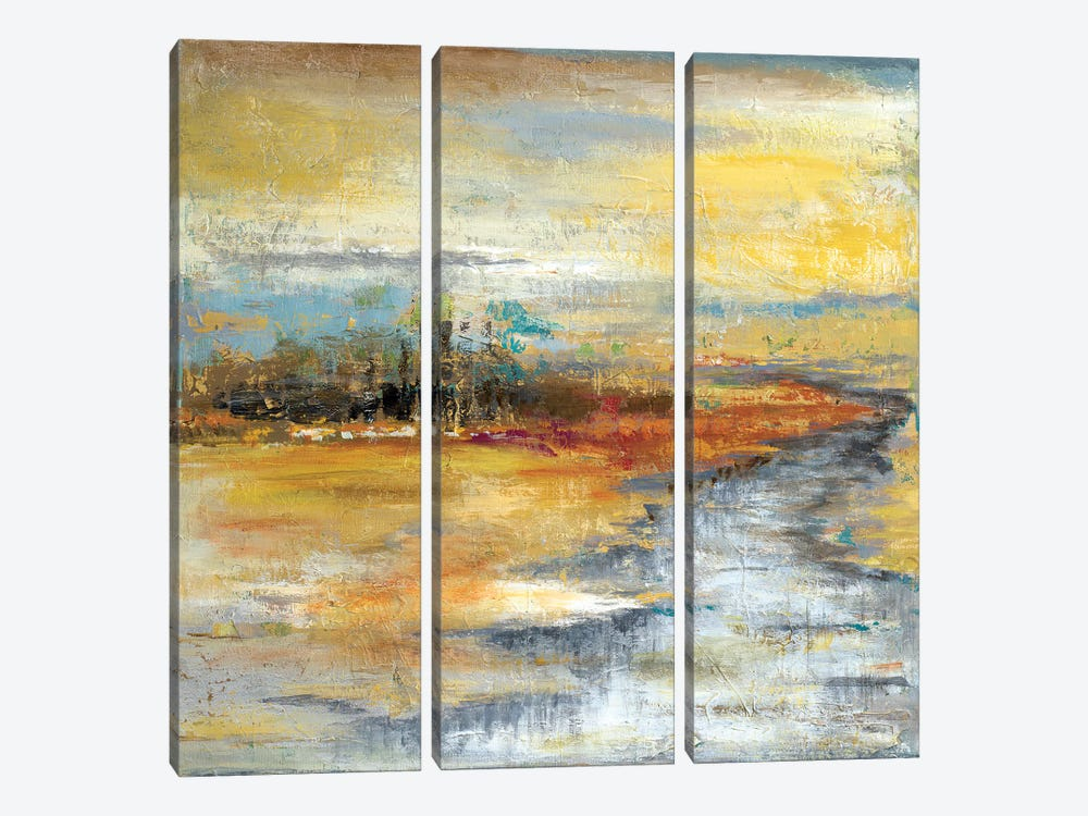 Silver River I by Patricia Pinto 3-piece Canvas Wall Art