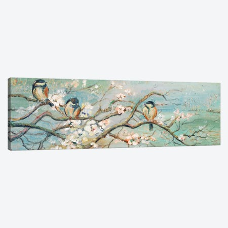 Spring Branch with Birds 3-Piece Canvas #PPI275} by Patricia Pinto Canvas Art