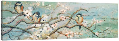 Spring Branch with Birds Canvas Art Print