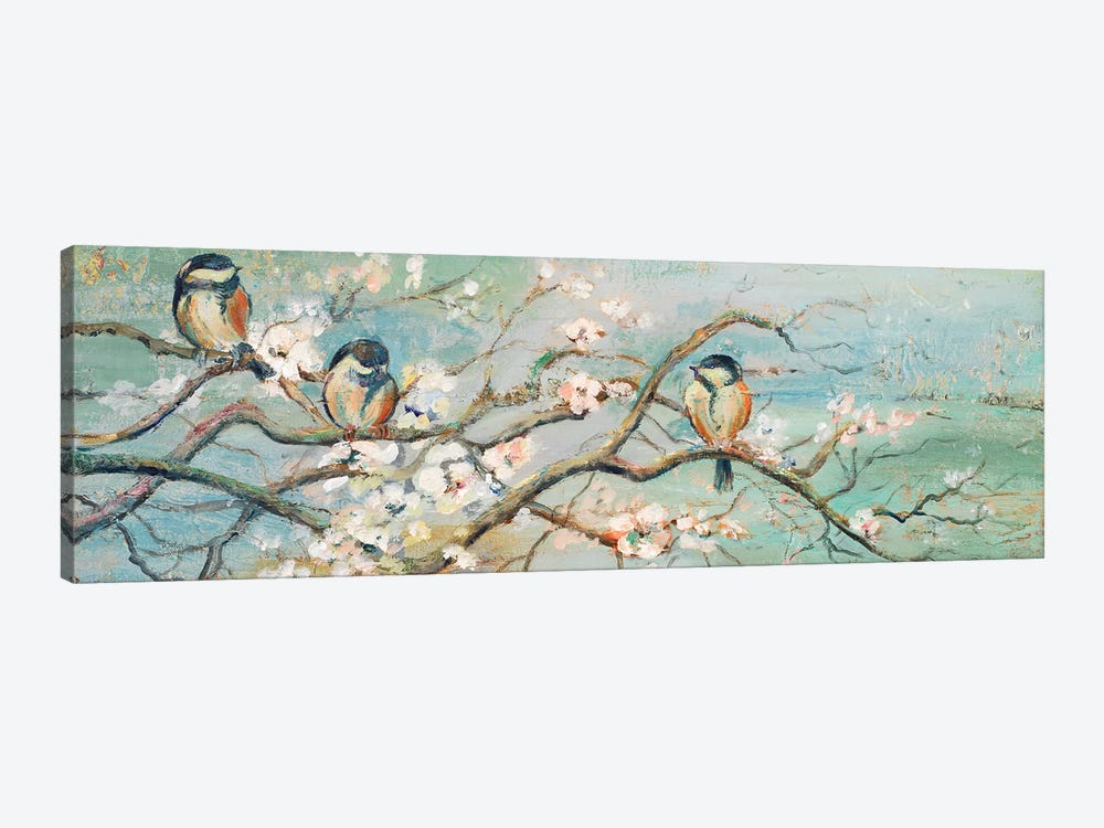 Spring Branch With Birds Canvas Wall Art By Patricia Pinto Icanvas