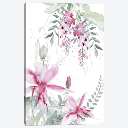 Spring Glicinia II Canvas Print #PPI277} by Patricia Pinto Canvas Artwork