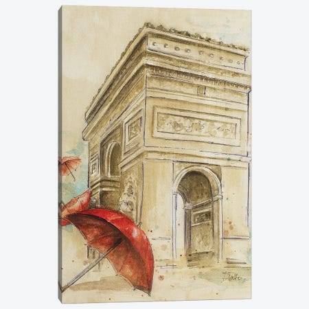 Arc du Triomphe Canvas Print #PPI27} by Patricia Pinto Canvas Art