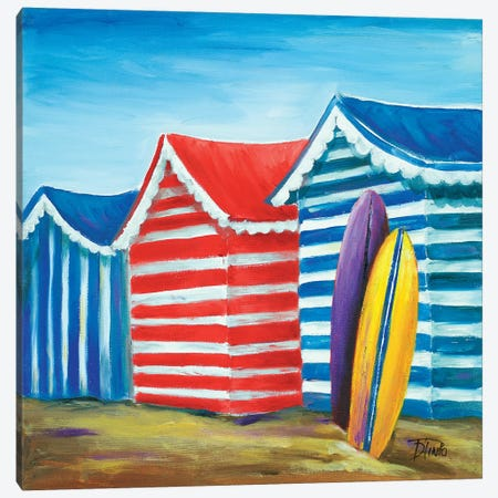 Summer Beach Cabana I Canvas Print #PPI283} by Patricia Pinto Canvas Artwork