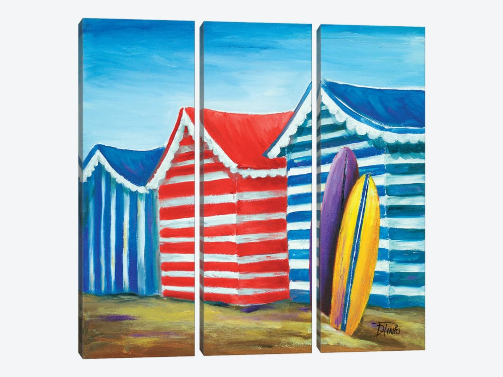 Summer Beach Cabana I by Patricia Pinto 3-piece Art Print